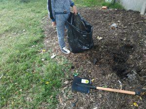 recolectando compost